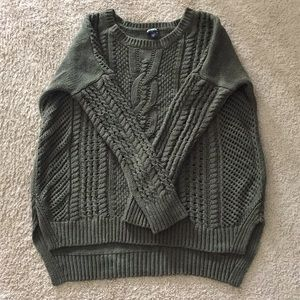 Express oversized cable knit sweater EUC